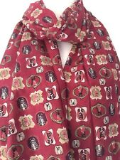 Cat Scarf Burgundy Cats Wrap Ladies Red Cotton Wrap Shawl Tabby Cat Kitten New
