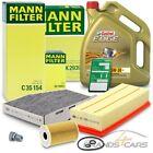 MANN-FILTER INSPEKTIONSPAKET+5L CASTROL 5W-30 LL VW GOLF 5 1K 6 5K 1.6 2.0 TDI