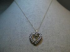 """10kt Diamond Heart Necklace, 18"""", 1.88 gr.  Yellow/White Gold,  signed J.C.M."""
