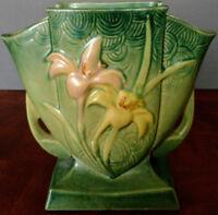 Roseville Pottery Vase in Green Zephyr Lily Pattern # 206-7 1940's Nice!