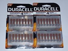 96  Duracell Easy Tab Hearing Aid Batteries Size 312 Expire 2019 or later