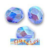 BIGIOTTERIA PERLINE- 20 mezzi cristalli 6mm - azzurro AB