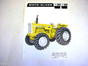 White Oliver 2-105 & 4-105 Industrial Tractor Sales Sheet  !