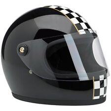 Casco Integrale Biltwell Gringo S Le Checker Nero Full-Face Helmet Biker Tg. S
