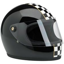 Casco Integrale Biltwell Gringo S Le Checker Nero Full-Face Helmet Biker Tg. XL