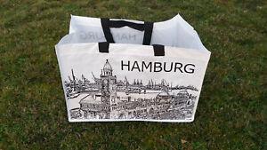 IKEA Tasche RUMPLING, Motiv HAMBURG, 71Liter bis max. 25kg belastbar