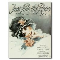 "*--AD--""Just Like The Rose""  /Sheet Music"" /Cover on Postcard/ {Postcard} (V-5)"