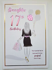 for a Special Daughter Happy 17th Birthday Card - 7404
