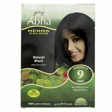 Godrej Abha Henna Colour Natural Black 60g Goodness Of 9 Herbs 100%Grey Coverage