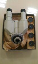 Microscope, binocular nozzle AU-12 LOMO, USSR + eyepieces