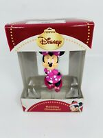 Disney Pink Polka Dot Minnie Mouse 3D Figural Resin Christmas Holiday New Boxed