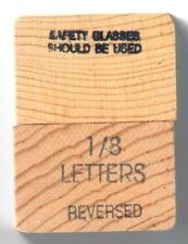 "Young Brothers Steel Stamps Reversed Heavy Duty 1/8"" Letters Hands Stamps"