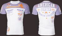 AMERICAN FIGHTER Mens T-Shirt BLACKOUT Athletic WHITE PURPLE Biker Gym $40