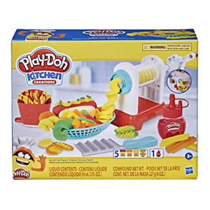 Play-Doh Kitchen Creations Spiral Fries Playset French Fry Maker 5 Colors