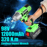 320NM 12000mAh 1/2'' Cordless Impact Wrench Electric Torque DrillI Tool Battery
