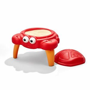 Crabbie Sand Table W/ Cover Outdoor Kids Fun Play Set Garden Yard Toy