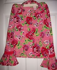 Mary-Kate and Ashley Girl's Pink Floral Shirt Size 10/ 12