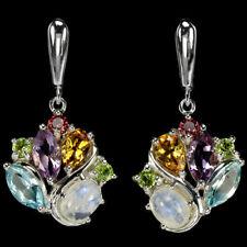 Ohrringe Mondstein Blautopas Amethyst Citrin Granat 925 Silber 585 Weißgold