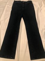 NYDJ NOT YOUR DAUGHTERS JEANS Lift Tuck Straight High Rise Dark wash Womens 14