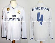 REAL MADRID CF #4 SERGIO RAMOS LFP 2016-2017 FIFA BADGE MATCH UN WORN SHIRT