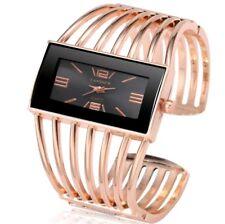 Womens Watch Luxury Fashion Rose Gold Bangle Watch Women Lady Girls Wristwatch