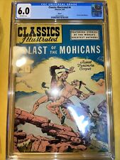 Classics Illustrated #4 Last Of The Mohicans (HRN 60, 1949) CGC 6.0 Off-White