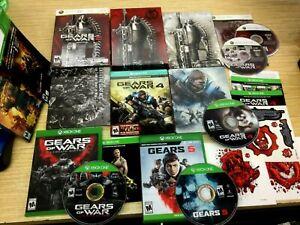 Gears of War STEELBOOK & GAME BUNDLE (2 & 4) + 1 3 5 JUDGEMENT XBOX 360 / ONE