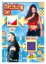 "LITA & MATT HARDY ""MATCHING SET DUAL EVENT WORN CARD"" FLEER WWE ULTIMATE DIVA"