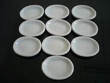 10 Mini White Oval Plates  Dollhouse Miniatures Ceramic Supply Deco