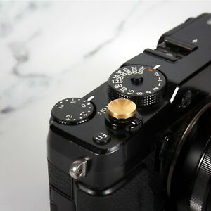 REAL BRASS Shutter Button Soft Release Metal Concave  Fuji XT2 X20 X100 LEICA