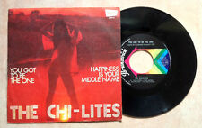 "THE CHI-LITES / YOU GOT TO BE THE ONE - 7"" (Italy 1975) EX-/EX+"