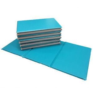 NEW 5x Triple Folding Nursery Sleep Mats Aqua/Stone Grey for Children & Toddler