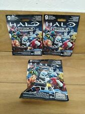 Mega Bloks Halo Charlie Series Mini Figures- Lot Of 3