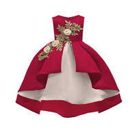 Infan Kid Baby Girl O-Neck Princess Bridesmaid Pageant Gown Birthday Party Dress