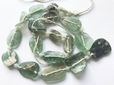 """16""""Ancient Roman Glass with Extreme patina Beads string"""