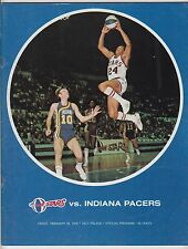 1972 UTAH STARS VS INDIANA PACERS ABA OFFICIAL PROGRAM DEFUNCT LEAGUE EXCELLENT