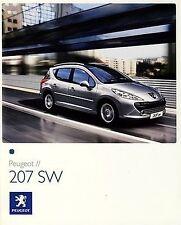 Peugeot 207 SW 2008 catalogue brochure rare