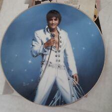 Elvis Collector Plate King of Las Vegas by Delphi Bradford 1991 w Box
