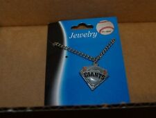 NEW MLB San Francisco Giants Chain Necklace Grey Gray Silver Gameday NEW NWT