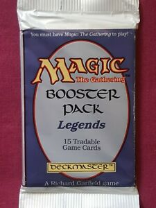 Magic The Gathering LEGENDS New Sealed Booster Pack MTG