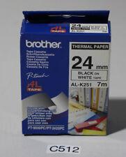 Brother P-touch tape AL-K251 schwarz auf weiß 24mm (C512-R43)