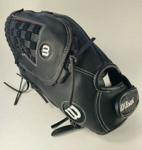 """Wilson A360 Utility Slowpitch Glove Left Hand Throw 14"""" Black Ultra Soft Lining!"""