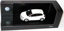 VERY RARE VW POLO 6R 2009 3 DOOR TSI TDI CANDY WHITE 1:43 SCHUCO (DEALER MODEL)