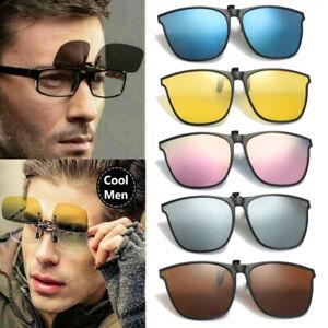 Unisex Clip on Sunglasses Polarized Flip up Glasses Driving UV400 Protection New