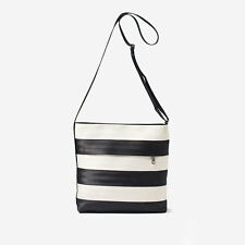 HARVEYS SEATBELT BAGS BLACK & WHITE STREAMLINE CROSSBODY vegan