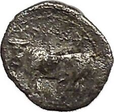 PANORMOS as ZIS in SICILY 405BC Litra Silver Greek Coin Male & Man Bull i41466