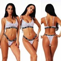 Women Sexy Hot Artist Hollow Bra & Panty Lingerie Lace Bandage Push Up Bra Set..
