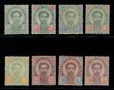 1887-91 Thailand Siam Stamp Second Issue Complete Set Mint Sc#11-18