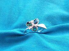 Super Sterling Silver Labradorite Ring UK size Q1/2 925