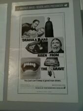 Pressbook lot Dracula Has Risen fr Grave, Tastethe Blood, and Dracula 1972 AD